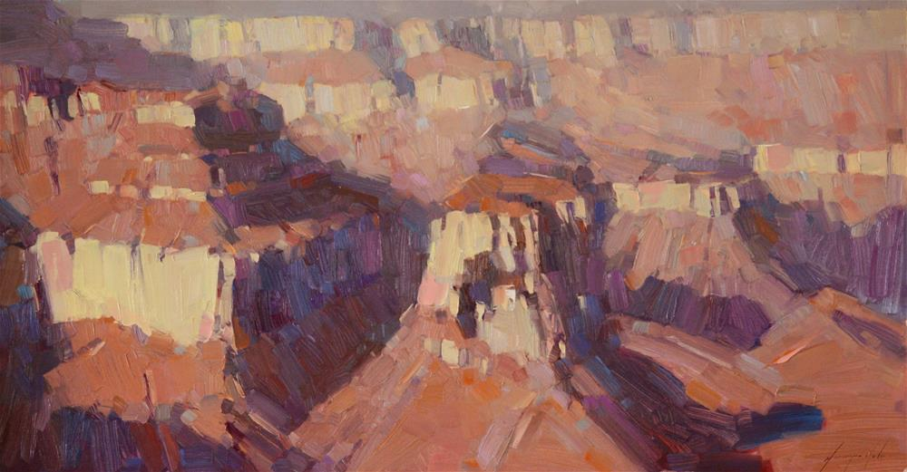 """GRAND CANYON ORIGINAL OIL PAINTING"" original fine art by V Yeremyan"