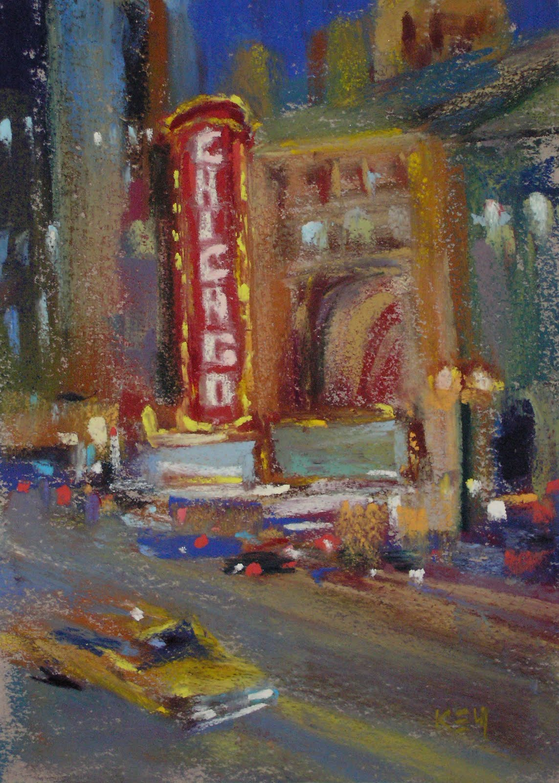 """Painting Chicago...My Kind of Town!"" original fine art by Karen Margulis"