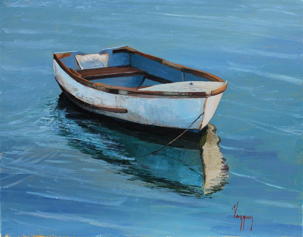 """Boat portrait "" original fine art by Marco Vazquez"