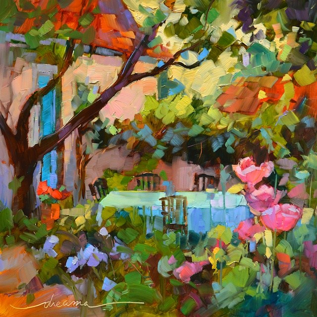 """Dream Time in the Garden"" original fine art by Dreama Tolle Perry"