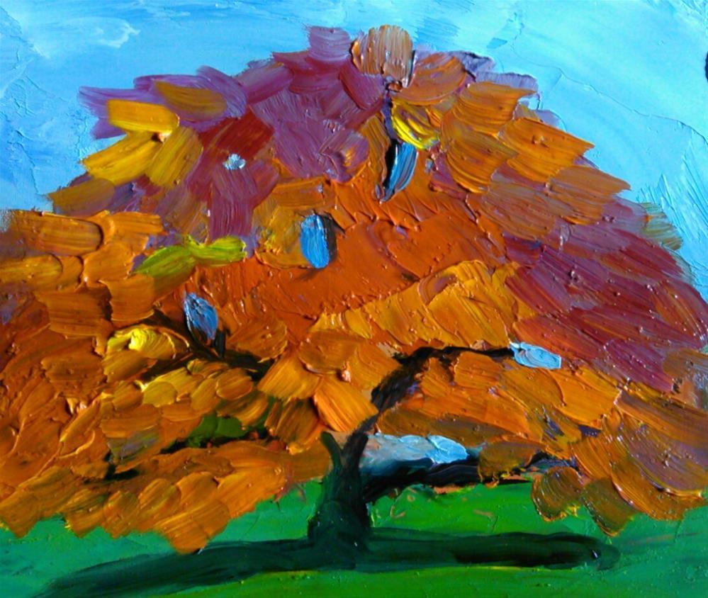 """""""Japanese Maple"""" original fine art by Gerri Obrecht"""