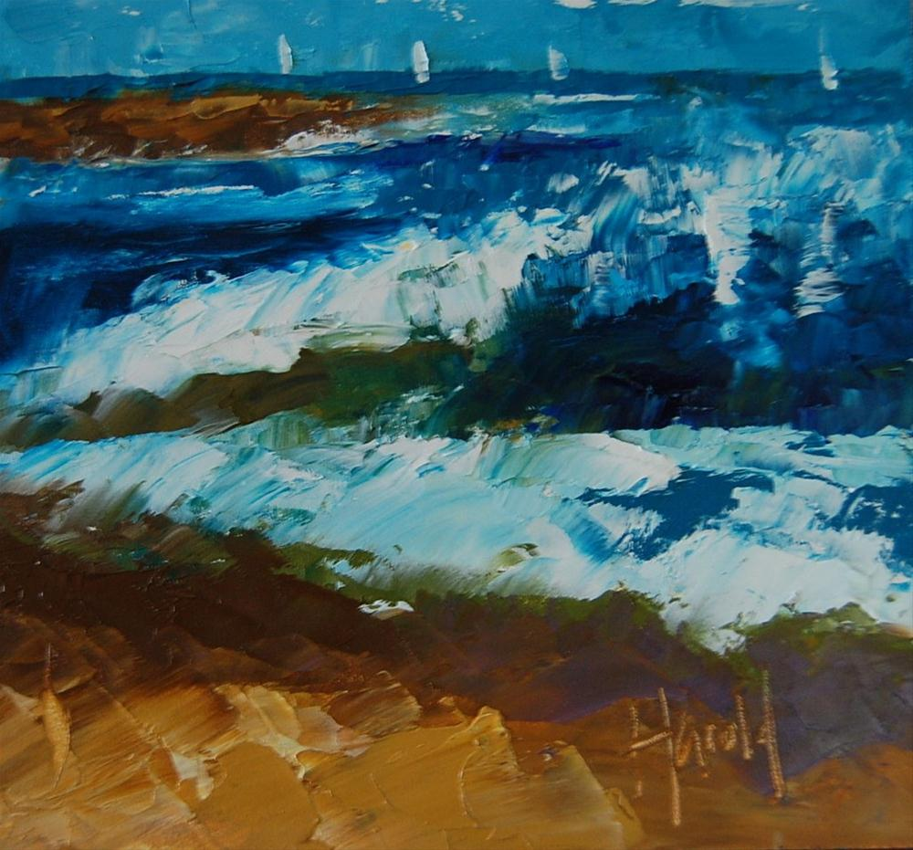 """The Wedge"" original fine art by Deborah Harold"