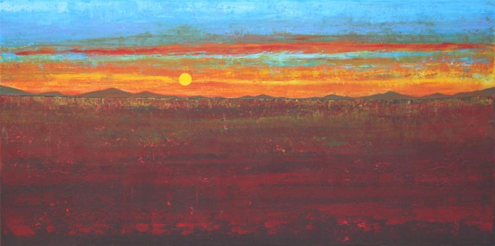 """Prairie Sun"" original fine art by Sage Mountain"