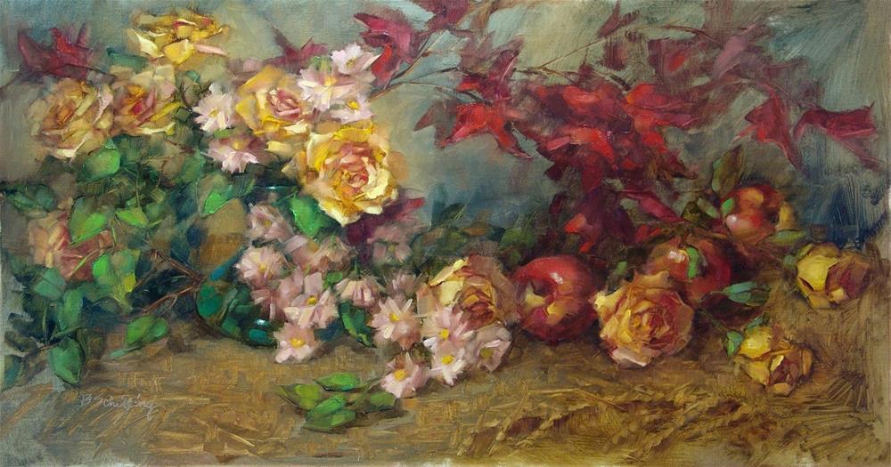 """Fall's Chorus Line"" original fine art by Barbara Schilling"