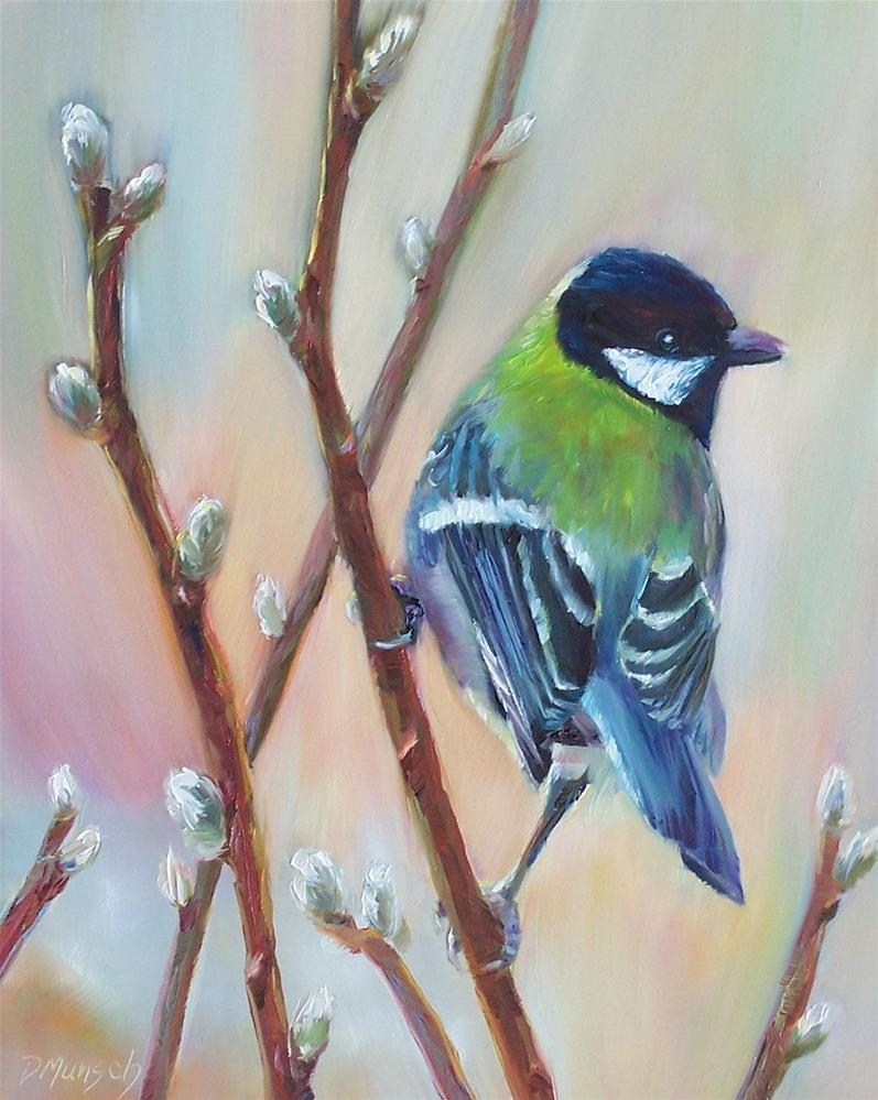 """Willow Bird"" original fine art by Donna Munsch"