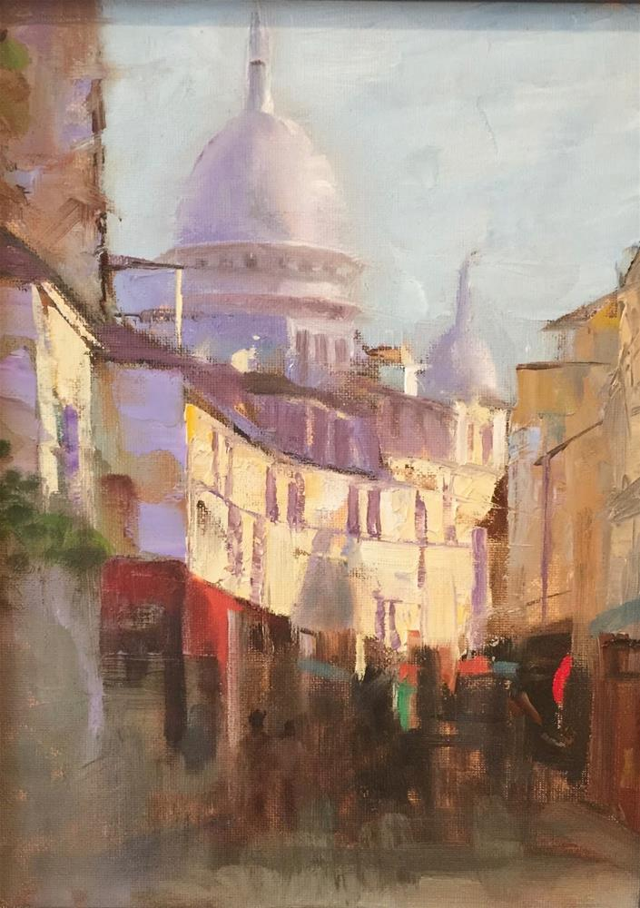 """Montmartre Impression, 9x12 and a Letter to the Atlantic Monthly"" original fine art by Ann Feldman"