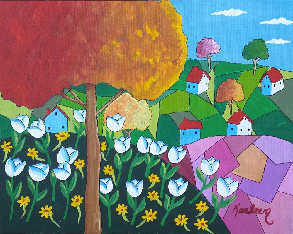 """Spring Blossoms"" original fine art by Karleen Kareem"