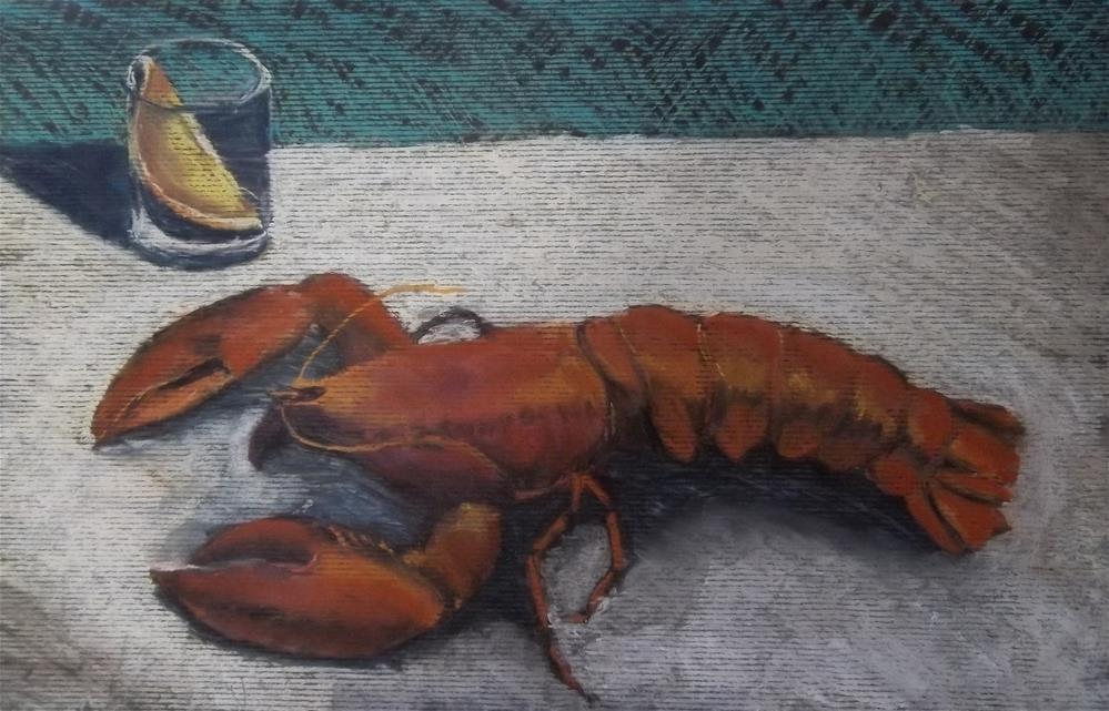 """Lobster"" original fine art by Becky Chappell"
