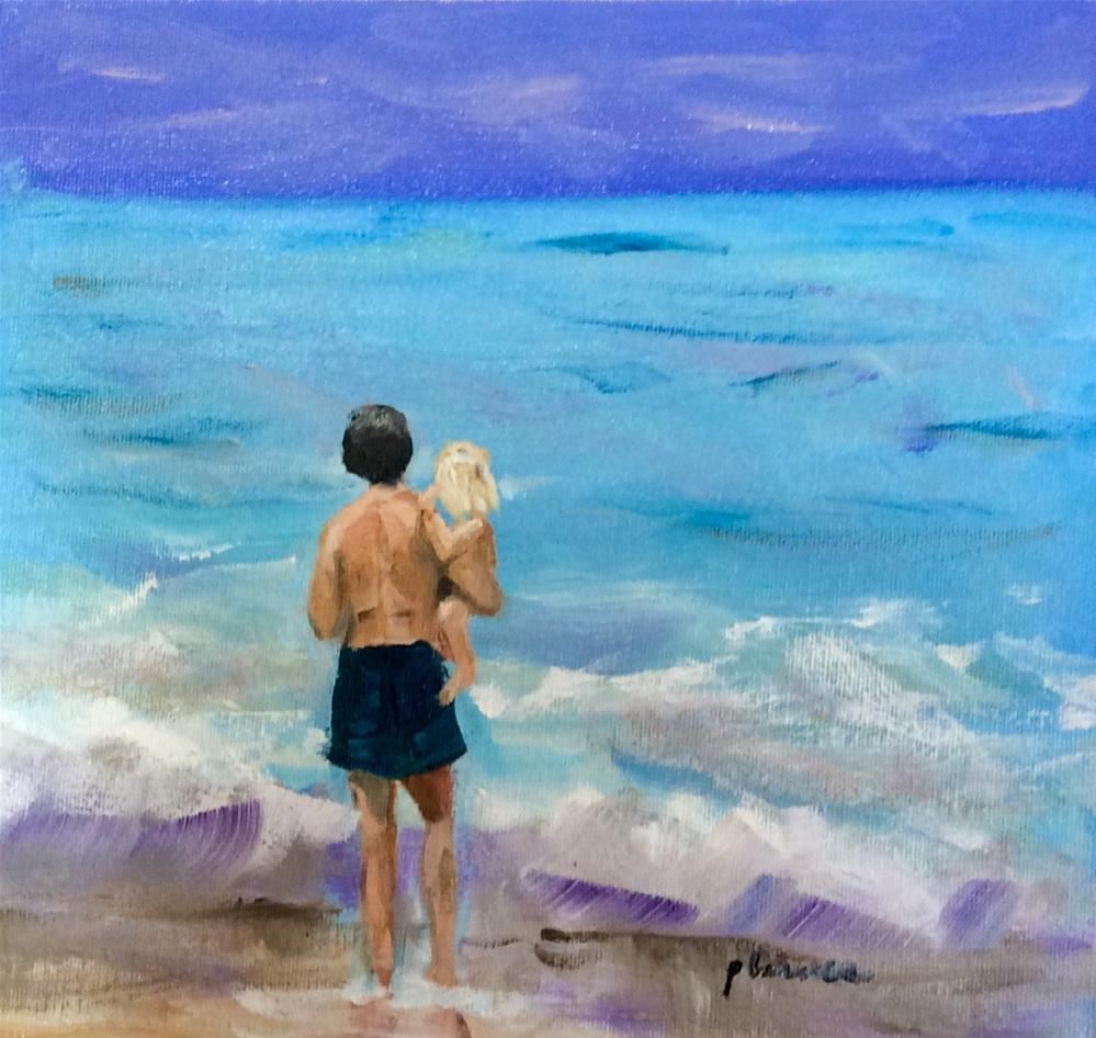 """Daddy's Little Girl"" original fine art by Patty Barnes"