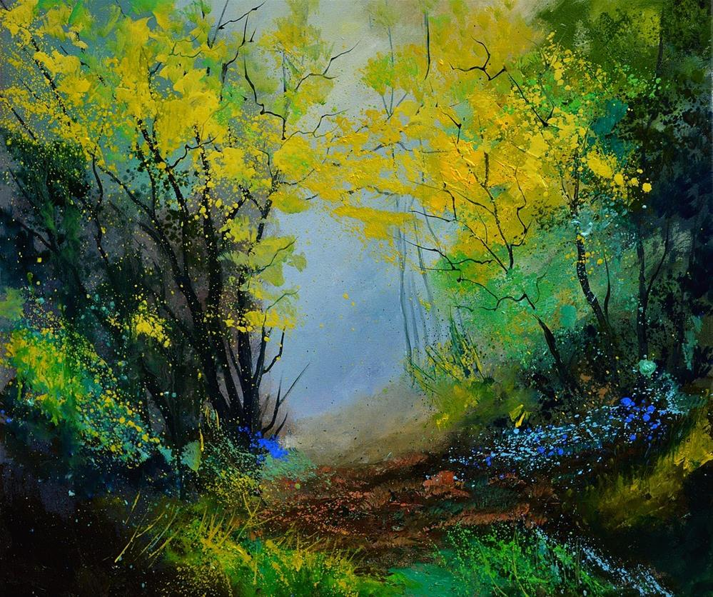 """In the wood 6710"" original fine art by Pol Ledent"