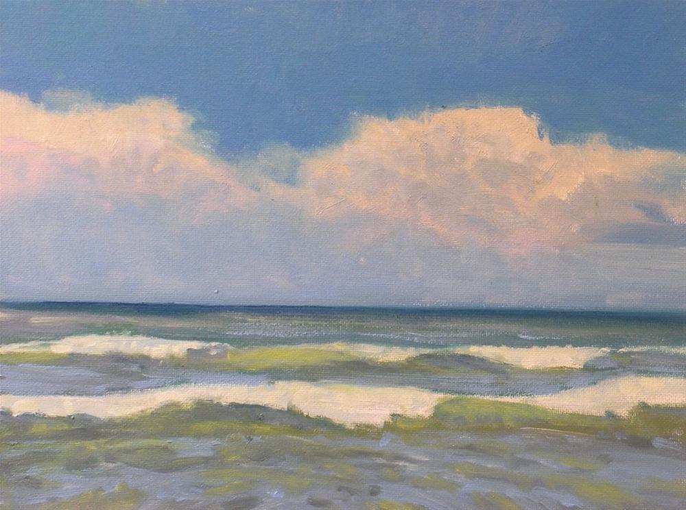 """Surf at Galveston"" original fine art by David Forks"