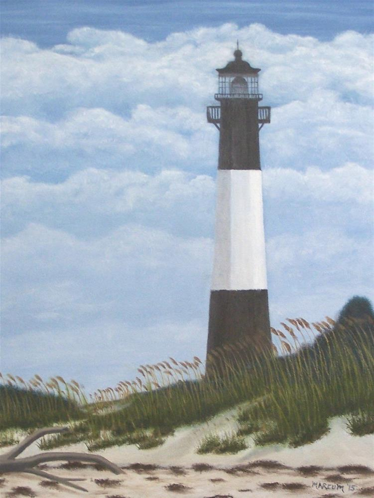"""Tybee Ga. Lighthouse"" original fine art by John Marcum"