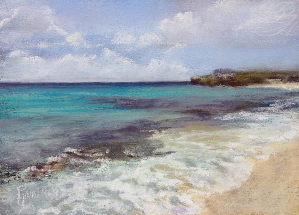 """Caribbean Shore"" original fine art by Pamela Hamilton"