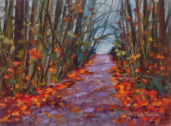 """Fall at Goldstream"" original fine art by Marcela Strasdas"