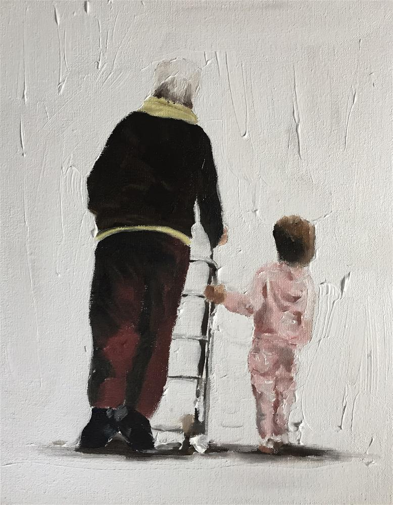 """A Walk with Granny"" original fine art by James Coates"