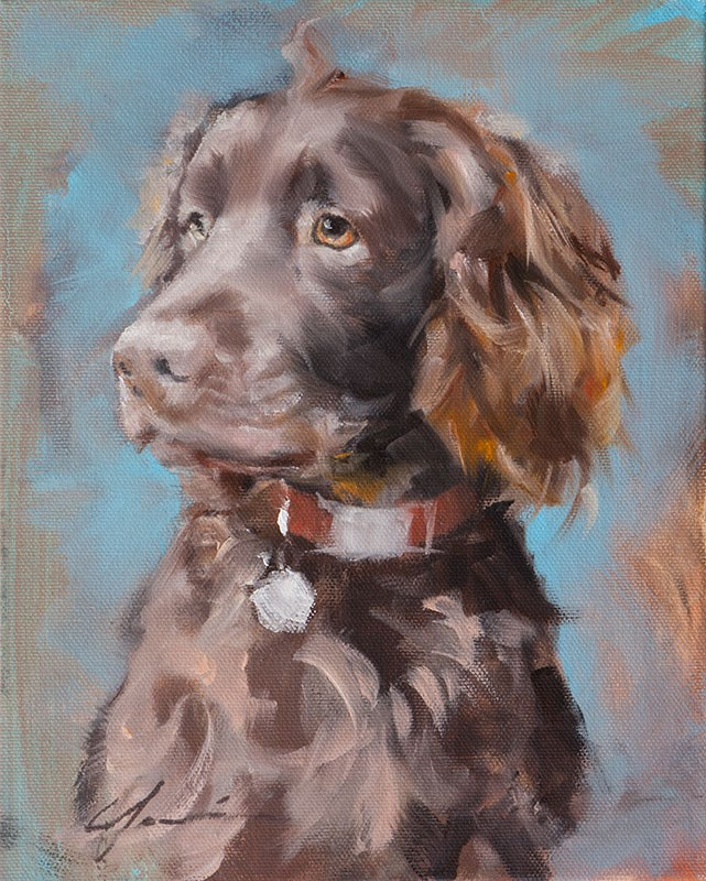 """Nash"" original fine art by Clair Hartmann"