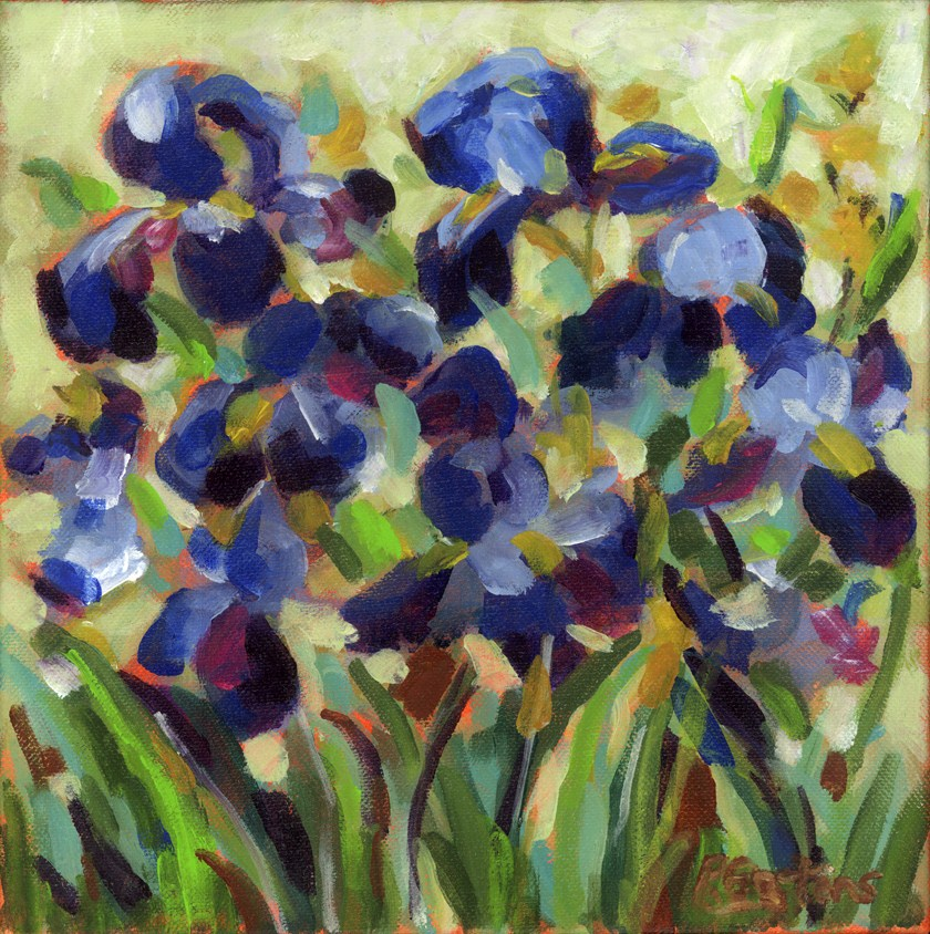"""Blue Velvet Iris"" original fine art by Pamela Gatens"