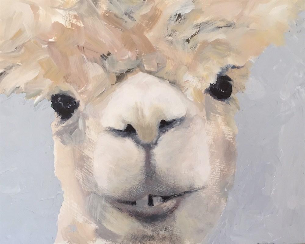 """Miss Ali Paca"" original fine art by June Rollins"
