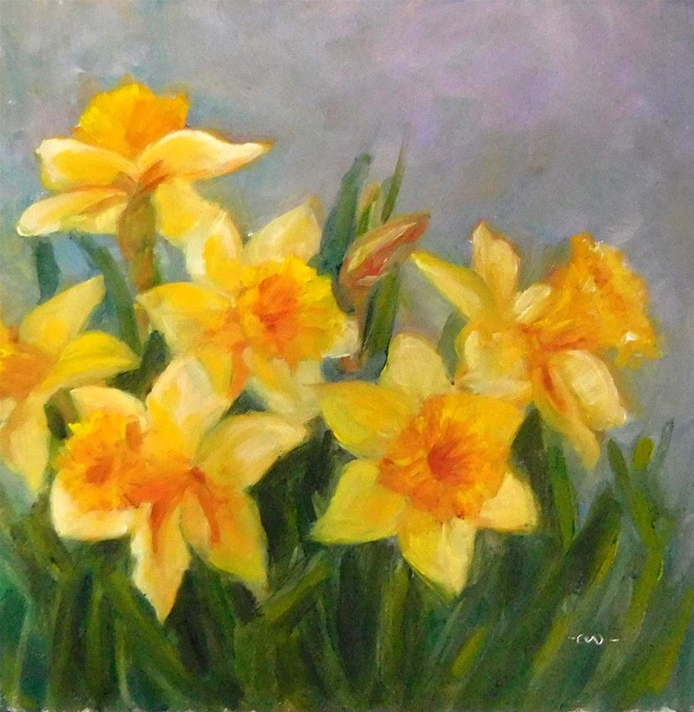 """Early Spring Daffodils"" original fine art by Cietha Wilson"