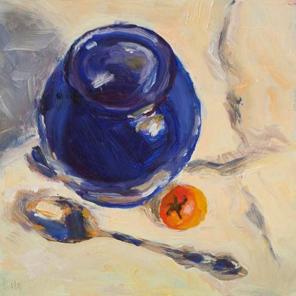 """Solitary Tomato 02"" original fine art by Maria McNitt"