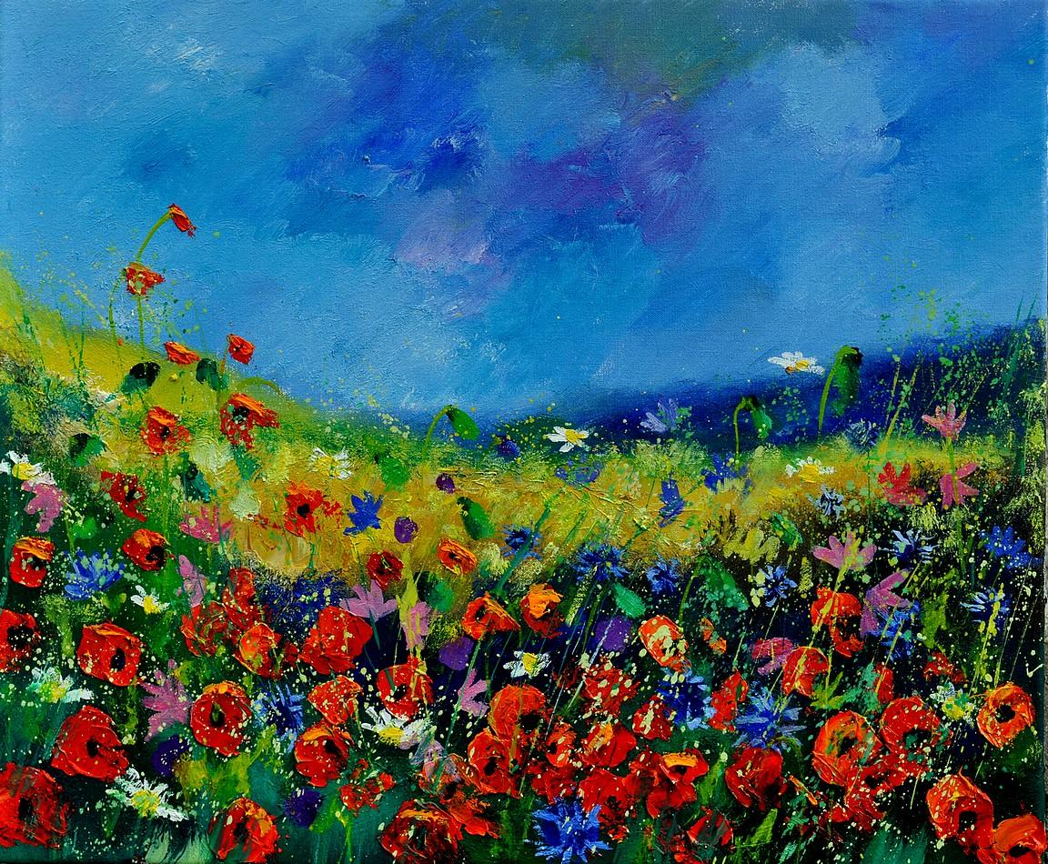 """wild flowers 561190"" original fine art by Pol Ledent"