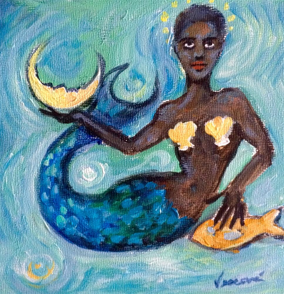 """Mermaid 1"" original fine art by Valerie Vescovi"