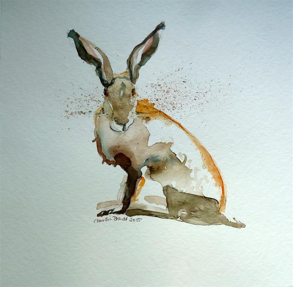 """hare"" original fine art by Claudia Brandt"