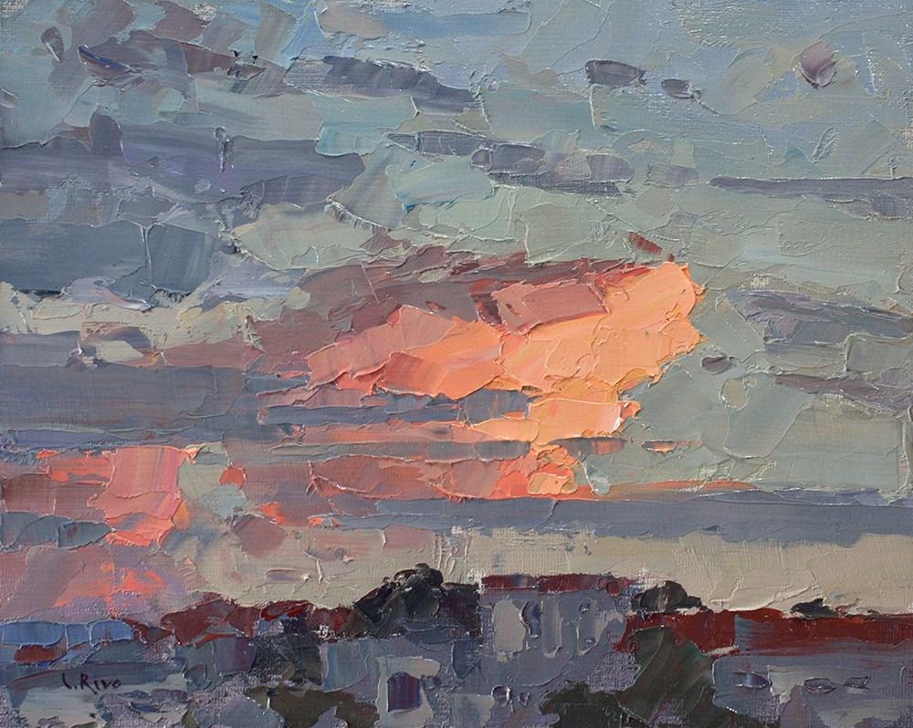 """Evening Cloud"" original fine art by Lena  Rivo"