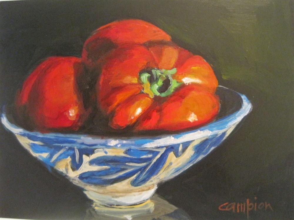"""427 For Caprese"" original fine art by Diane Campion"