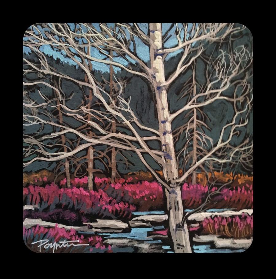 """3.23 Mountain Valley- Red"" original fine art by Jan Poynter"