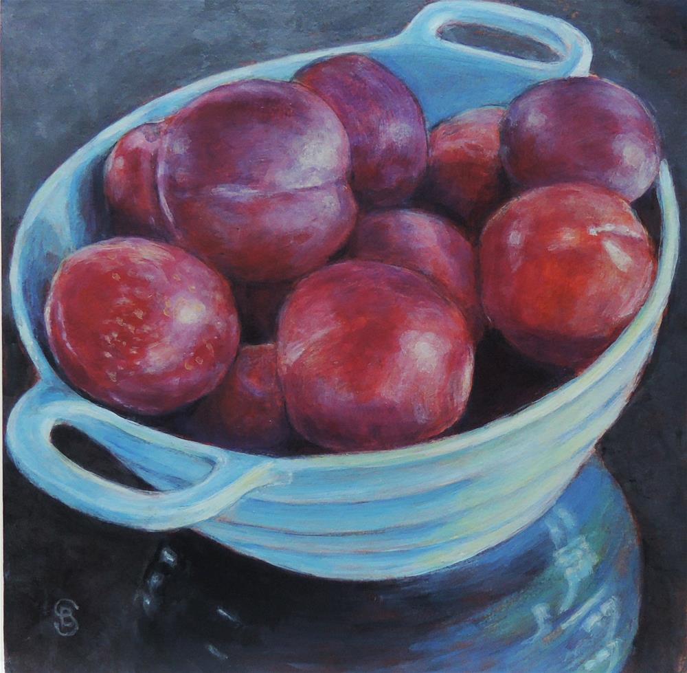 """Plumful No. 2"" original fine art by Belinda Scheber"