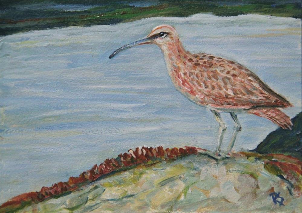 """The Sandpiper"" original fine art by Roberta Schmidt"