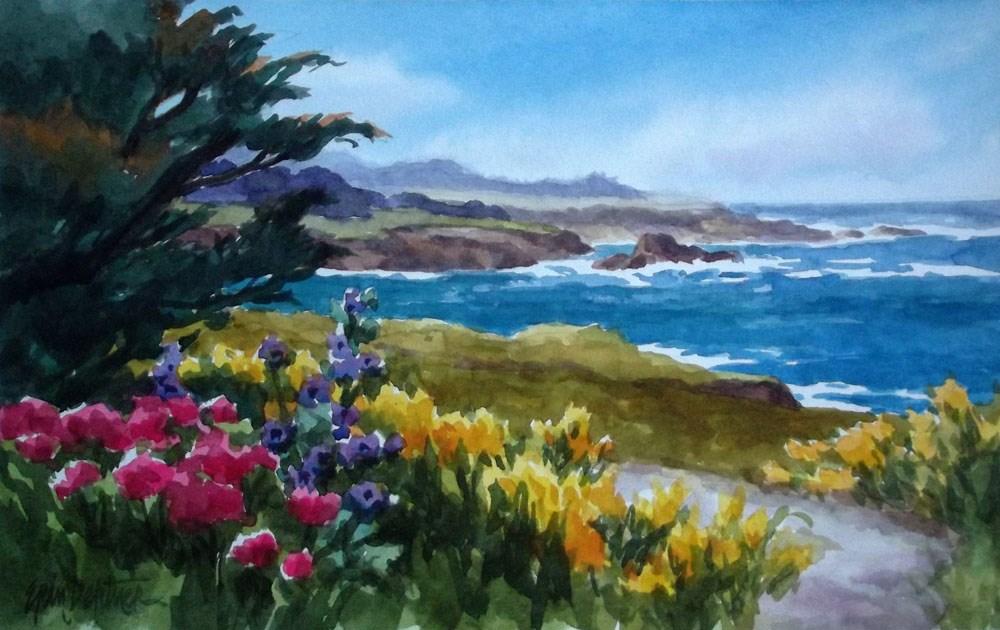 """Gazing South"" original fine art by Erin Dertner"