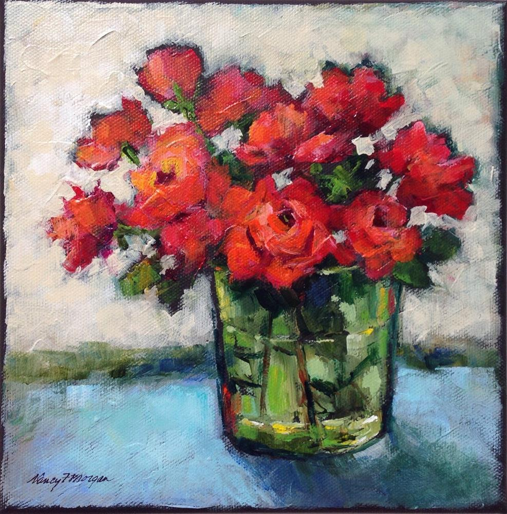 """Smell the Roses"" original fine art by Nancy F. Morgan"
