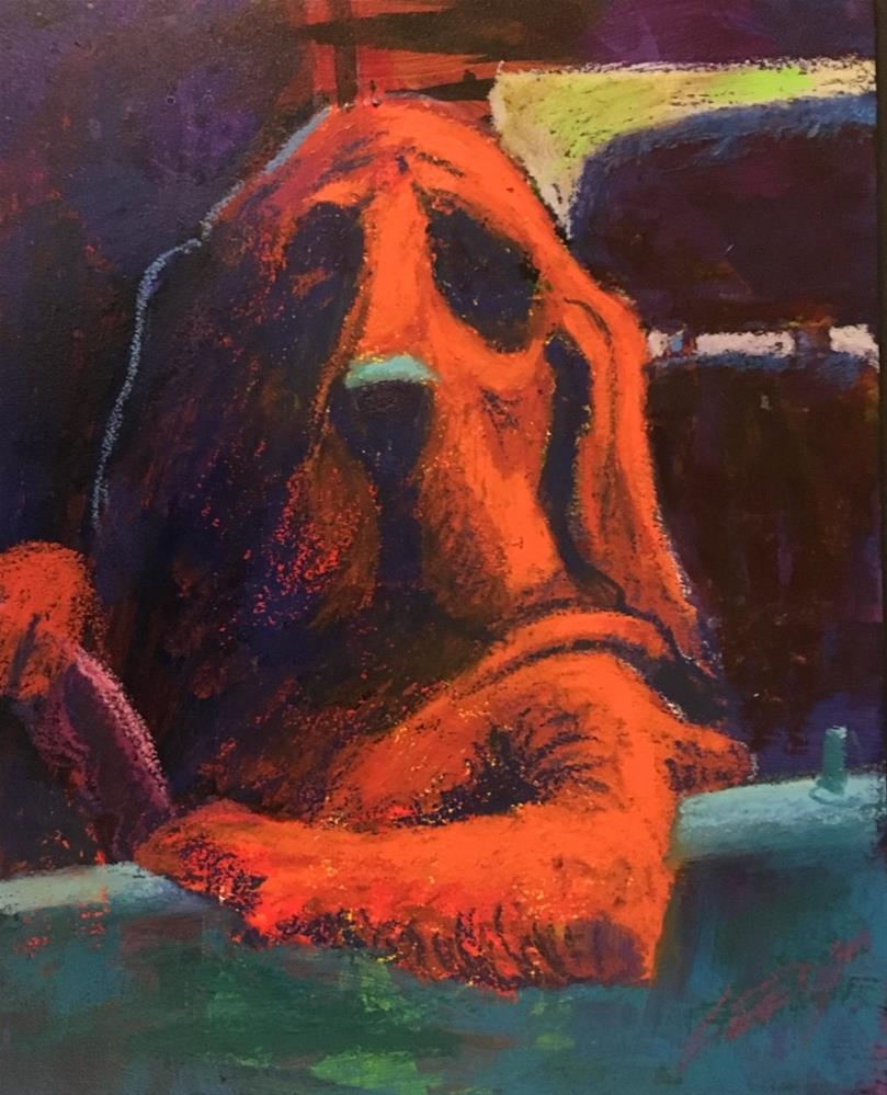 """They Call Me The Hound Of The Parking Lot"" original fine art by Jeff Leedy"