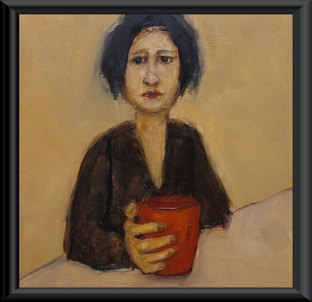 """CAFE GRANDE Original ABSTRACT FIGURE Art Painting OIL"" original fine art by Colette Davis"