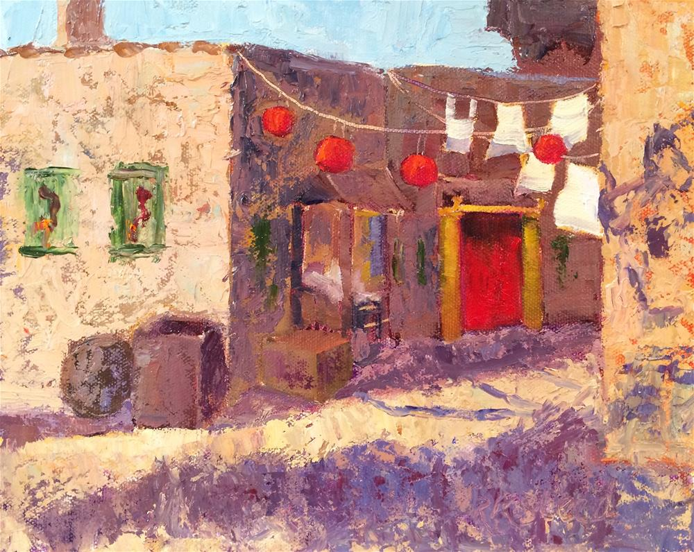 """China Town in Old Tuscon"" original fine art by Roxanne Steed"