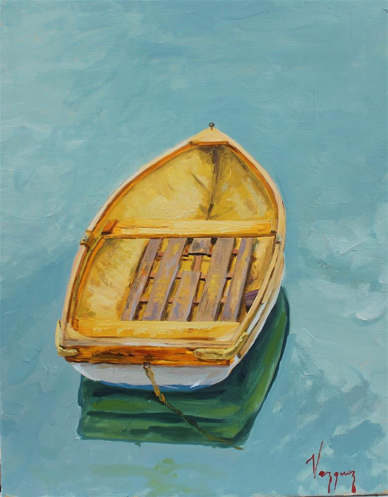 """Boat from above "" original fine art by Marco Vazquez"