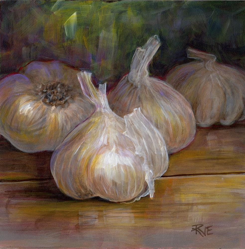 """#95 Garlic bulbs"" original fine art by Ruth Van Egmond"