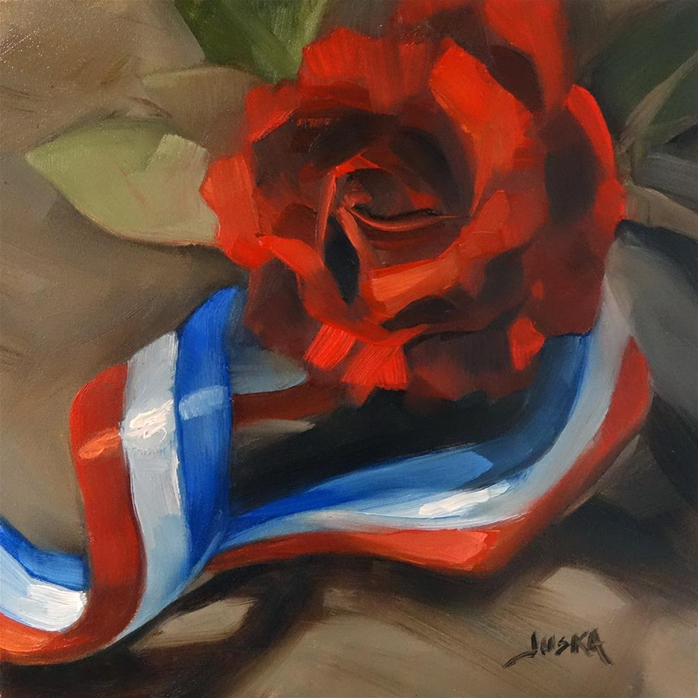 """La Vie en Rose"" original fine art by Elaine Juska Joseph"