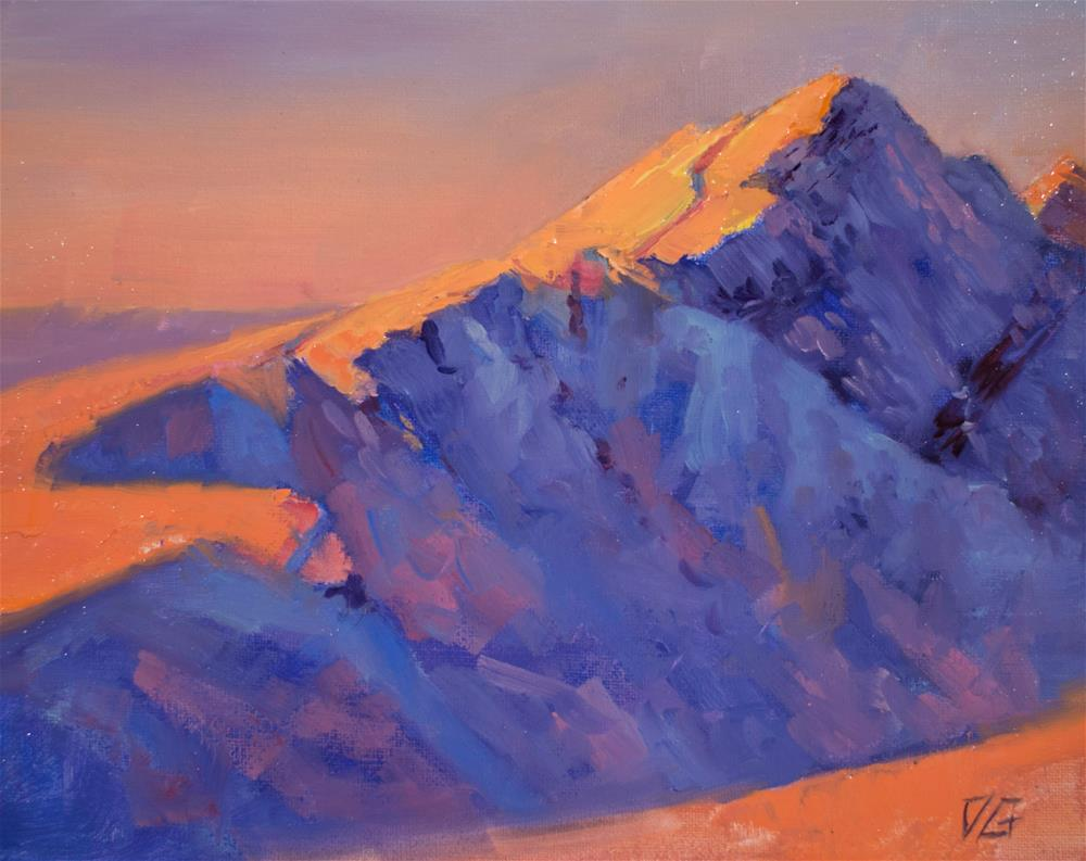 """Black Diamond Peak"" original fine art by Dimitriy Gritsenko"