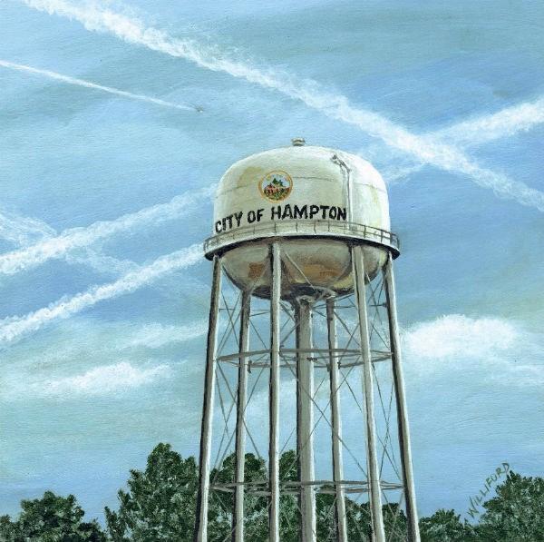 """Water Tower Town"" original fine art by Kathleen Williford"
