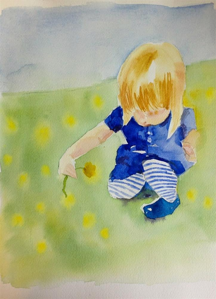 """Dandelion"" original fine art by Maggie Flatley"