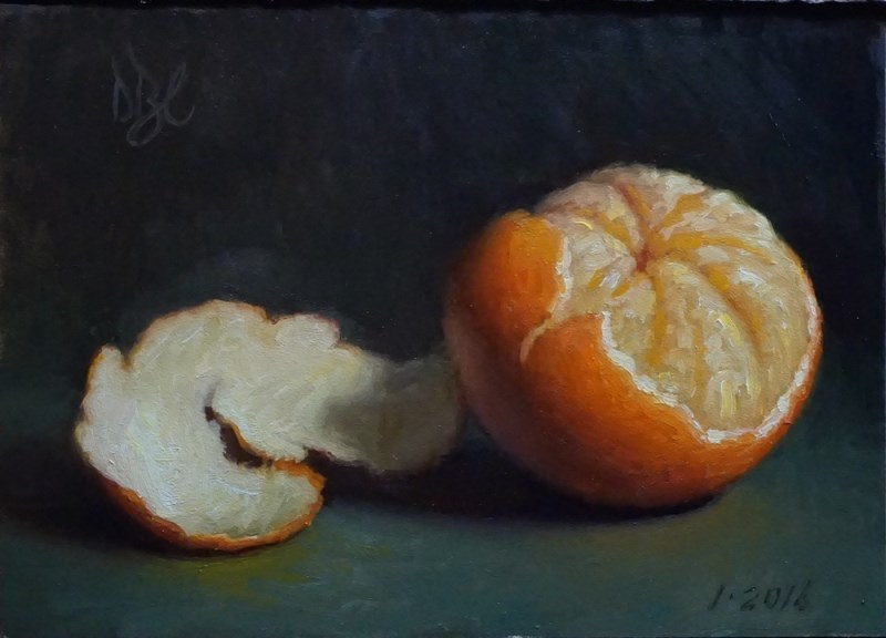 """New Year Tangerine"" original fine art by Debra Becks Cooper"