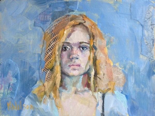 """Golden Hair"" original fine art by Katie Wilson"