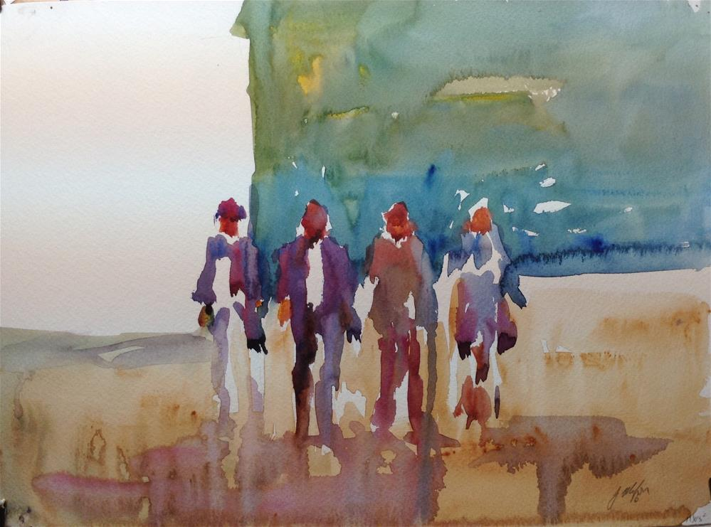 """After Church"" original fine art by Joseph Mahon"