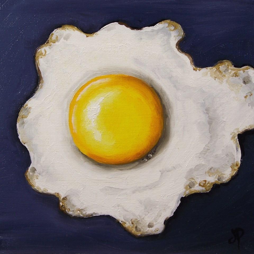 """Fried Egg"" original fine art by Jane Palmer"