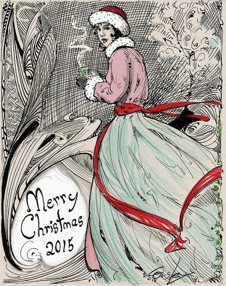 """Merry Christmas"" original fine art by Chris Ousley"