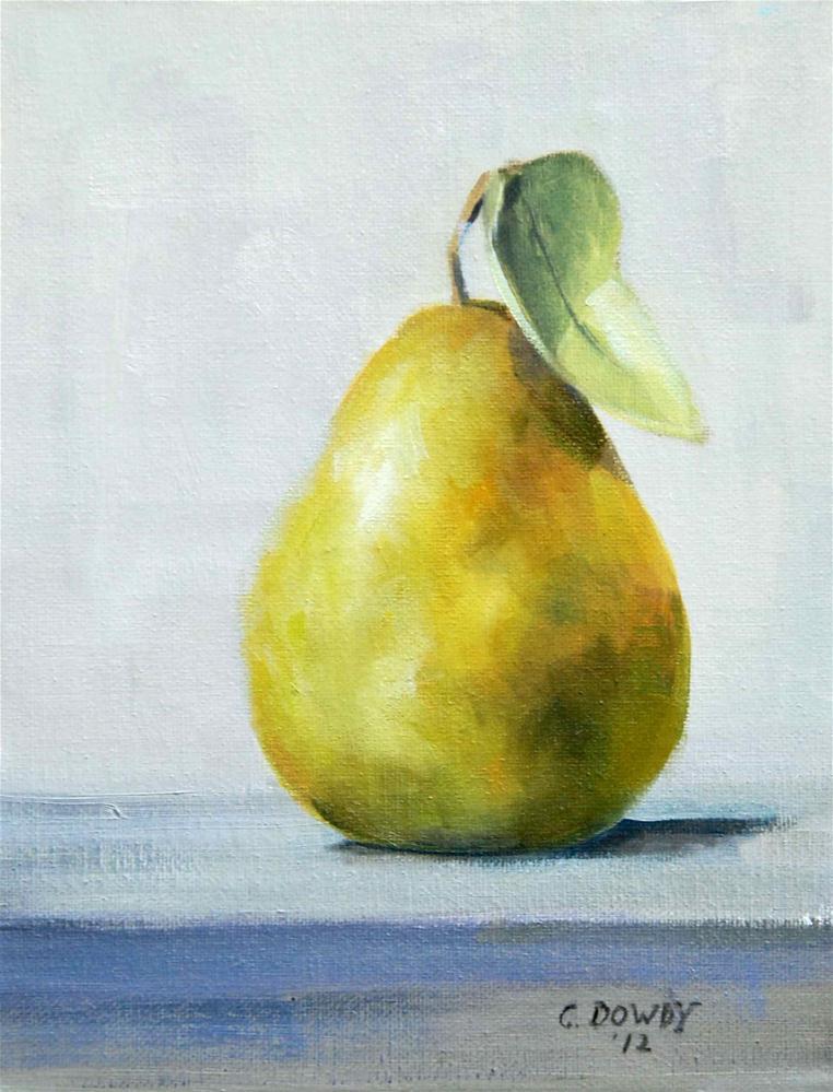 """Ripe Pear"" original fine art by Christina Dowdy"