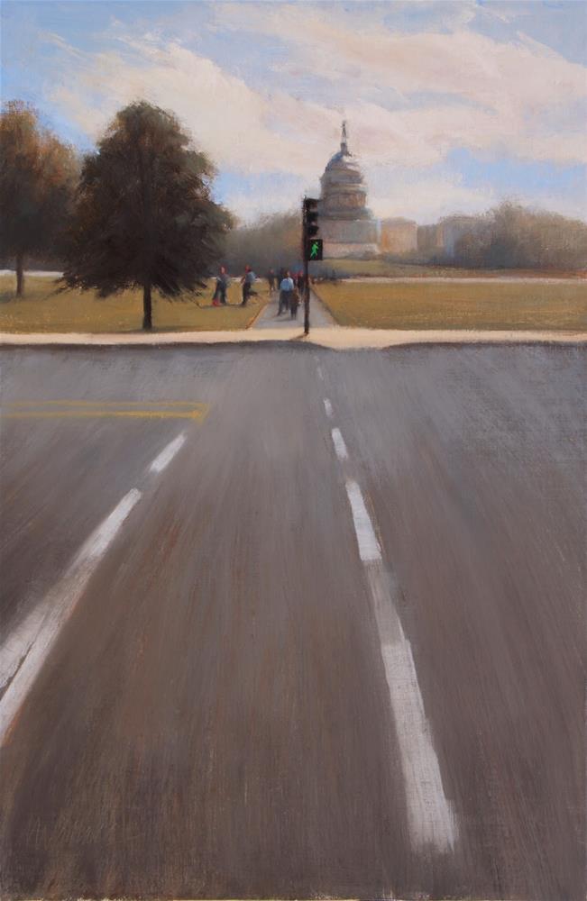 """#83 Welcome to Washington"" original fine art by Nancy Wallace"